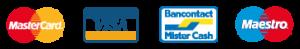 MasterCard - Visa - Bancontact - Maestro